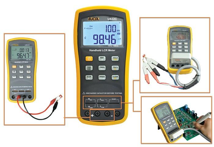 Eucol U822A, U822C Hand LCR Meter mit ESR übersicht