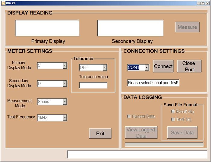 Eucol U822A U822C  PC-Software zum messen, loggen der Messdaten