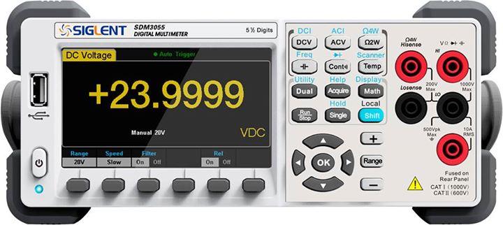 Siglent SDM3055 Anzeige 23.9999VDC - 100kHz TRMS SCPI USB LAN PC-Software