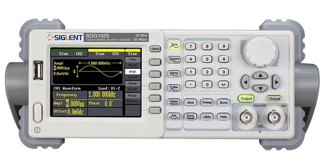 Siglent SDG1025 25MHz 16kpoints 2Kanal DDS Funktionsgenerator von vorn