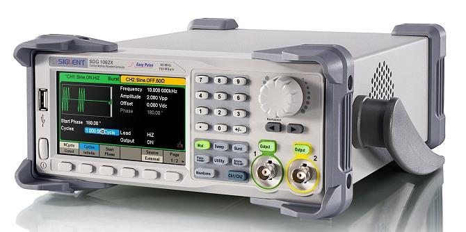 Siglent SDG1000X Serie SDG1032X SDG1062X 16kpoints 2Kanal DDS Funktionsgenerator seitlich