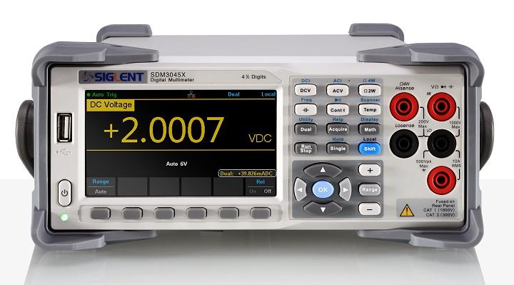 "Siglent SDM3045 Anzeige 60.000 Stellen 4.3""TFT - 100kHz TRMS SCPI USB LAN PC-Software"