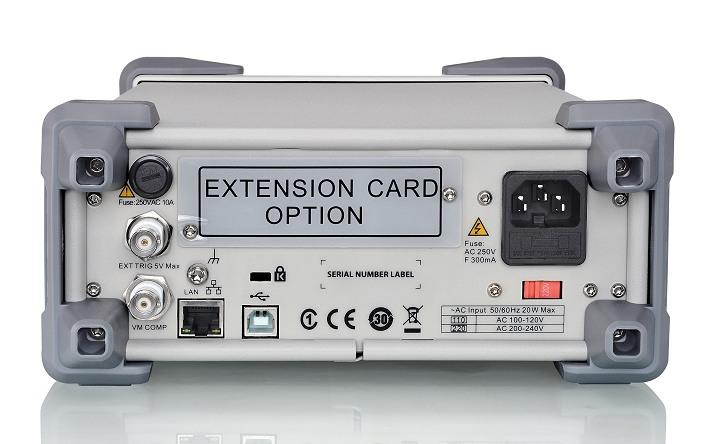 Siglent SDM3065X Tischmultimeter Rückseite USB LAN IO