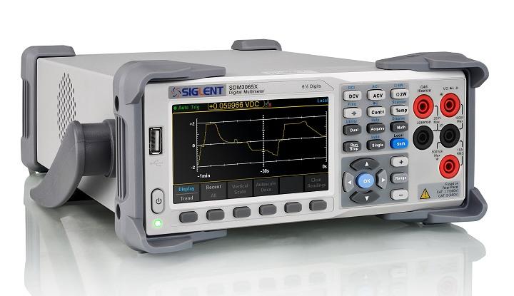 Siglent SDM3065X Tischmultimeter seitlich 300kHz TRMS SCPI USB LAN PC-Software