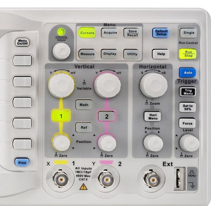 Siglent SDS1102CML+ & SDS1072CML+ & SDS1152CML+ Oszilloskop Bedienfeld