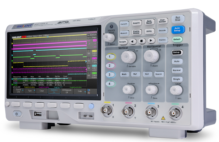 Siglent SDS1104X-E 100MHz 4CH Digital Speicher Oszilloskop up to 1GSA up to 14Mpoints 100.000wrfms seq. Speicher