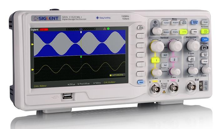 Siglent SDS1102CML+ & SDS1072CML+ & SDS1152CML+ Oszilloskop Frontansicht leicht schräg