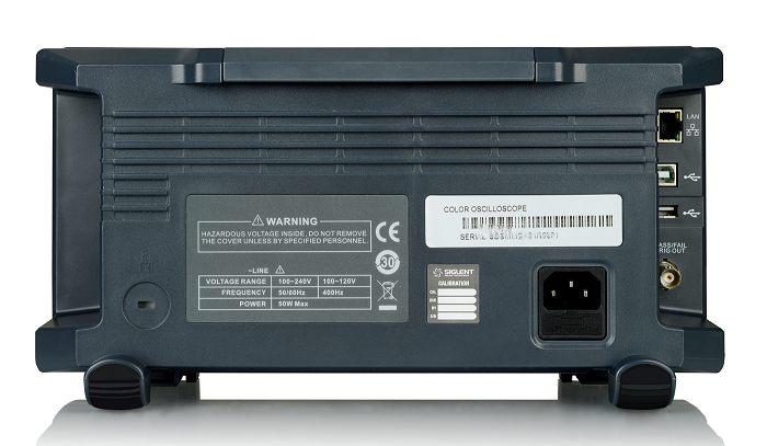 Siglent SDS1204X-E 200MHz 4CH Digital Speicher Oszilloskop 1GSA 14Mpoints 100.000wrfms seq. Speicher