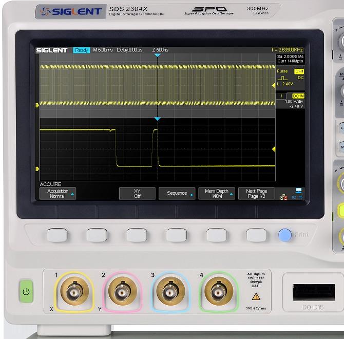 Siglent SDS2000X Serie SDS2304X SDS2204X SDS2104X 4CH SPO Digital Speicher Oszilloskop Display Tasten BNC