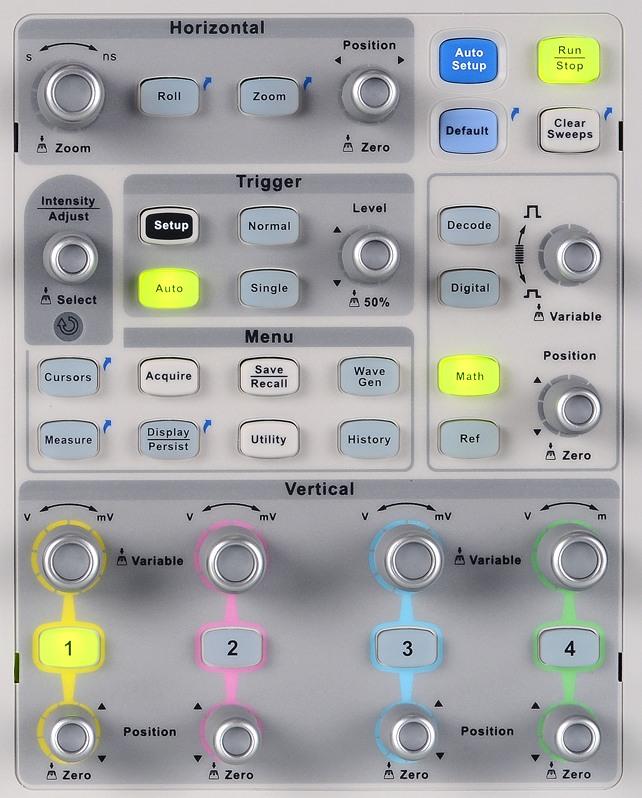 Siglent SDS2000X Serie, SDS2304X SDS2204X SDS2104X 4CH SPO Digital Speicher Oszilloskop Bedienfeld