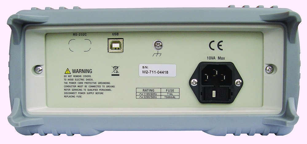 Tonghui TH1942 100kHz TRMS 51000 DIGITS 20A Tischmultimeter Rückseite USB