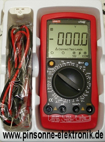 Uni-T UT58E 20.000 Counts Multimeter mit allen Kabeln Messadapter