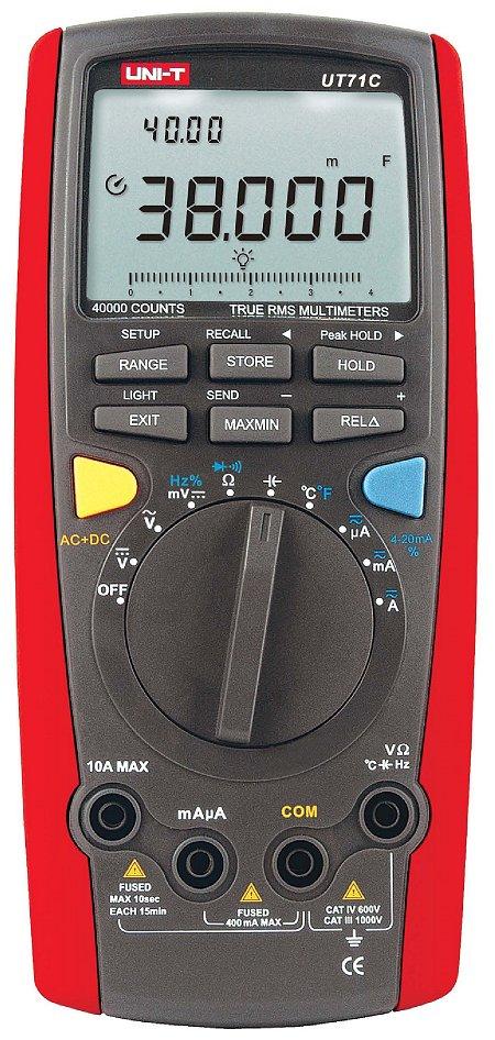 Uni-T UT71C 100kHz TRMS USB IO Tasche 100 Speicher