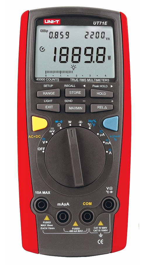 Uni-T UT71E 40000DIGITS 100kHz TRMS Hand Multimeter groß mit Powermessfunktion