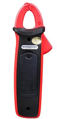 Uni-T UT210E Rückseite DC AC TRMS Strom Zangenmultimeter 2000 Counts Zangenöffnung 17mm mit N.C.V VFC Display Backlight zuschaltbar