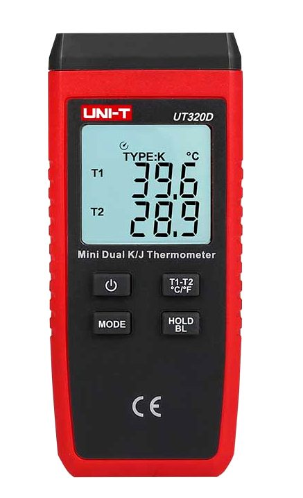 Uni-T UT325 with two sensors in use