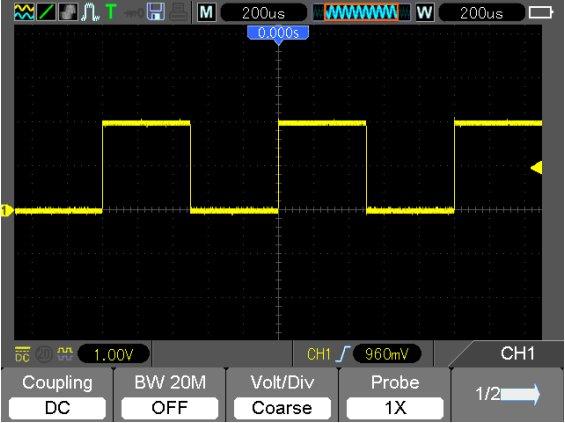 Hantek DSO1102B Signaldarstellung