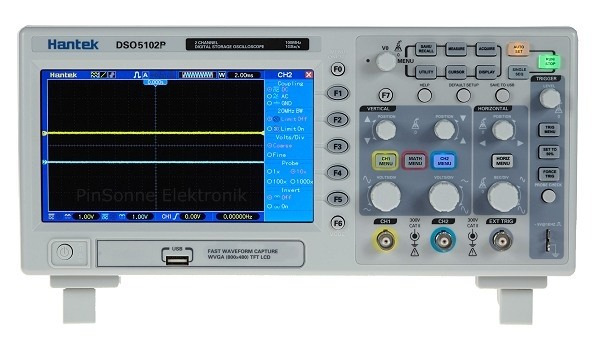 Hantek DSO5102P 2CH 100MHz 40kpoints 7TFT Oszilloskop