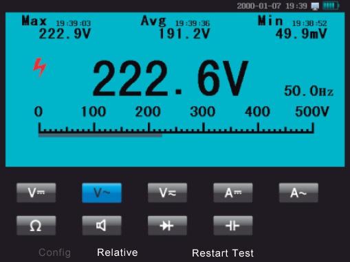 Micsig MS310IT MS320IT Multimeterbetrieb, Auswahl über Touchscreen