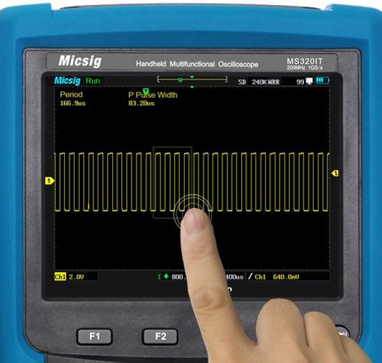 Micsig MS310IT MS320IT Signalzoom über Touchscreen