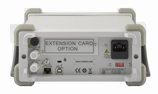 Siglent SDM3055 3055A Rückseitenansicht mit usb lan Sicherung