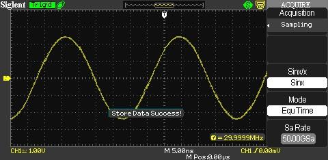 Siglent SDS1102CML Erfassung mit interpolierter Abtastung mit max 50GSA/s