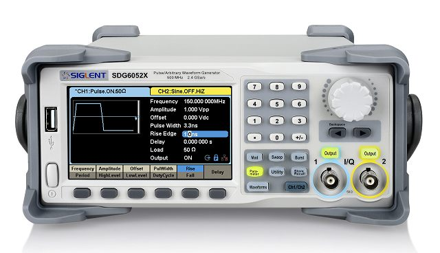 Siglent SDG6022x 200MHz 16bit Arbitrary Signal Generator 2CH 2.4GSA 20Mpoints Easy Pulse+ TRueArb Technologie LAN & USB IO Touch