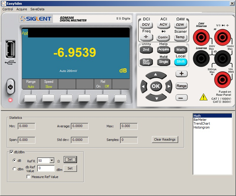 Siglent SDM3055 PC Software dB