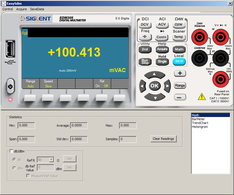 Siglent SDM3055 PC Software VAC