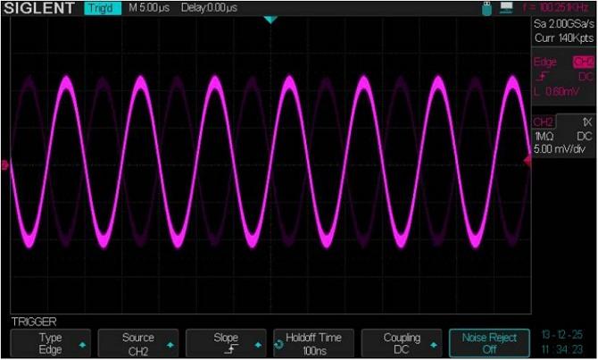 Siglent SDS2304 SPO Digital Speicher Oszilloskop Trigger menu