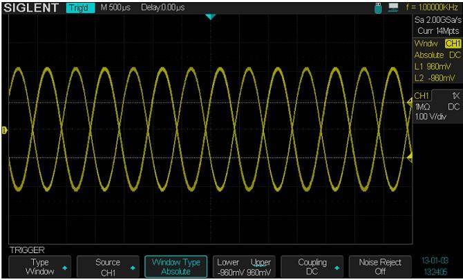 Siglent SDS2304 SPO Digital Speicher Oszilloskop Trigger Window Trigger mit 2 Schwellen