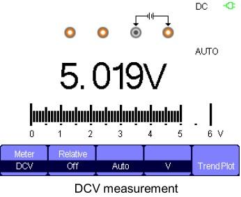 Siglent SHS800 Serie, Siglent SHS810 DMM DCV modus