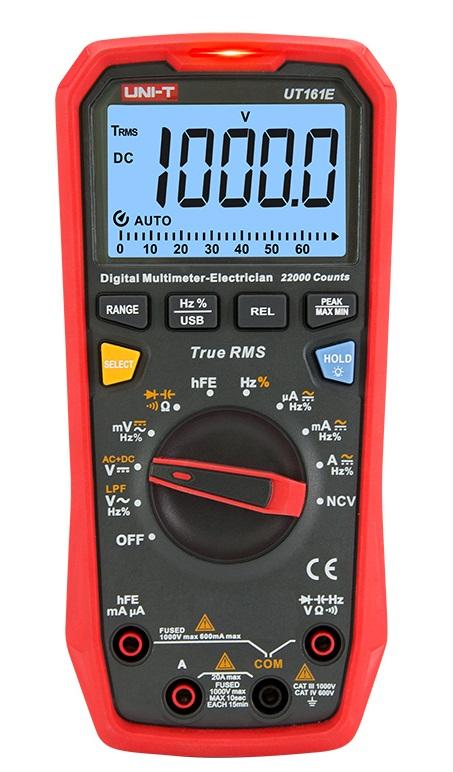 Uni-T UT161E 10kHz TRMS Multimeter mit CE und GS USB