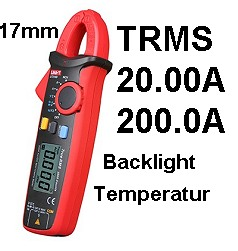 Uni-T UT210D TRMS Stromzangen-Multimeter Digital Clamp Multimeter mit Temperaturmessung