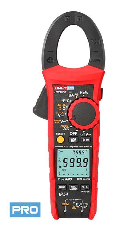 Uni-T UT219DS Pro Serie IP54 DC AC Strom Zangenmultimeter für Innen und Außenbereich, LED Zangenbeleutung µA Messbereich