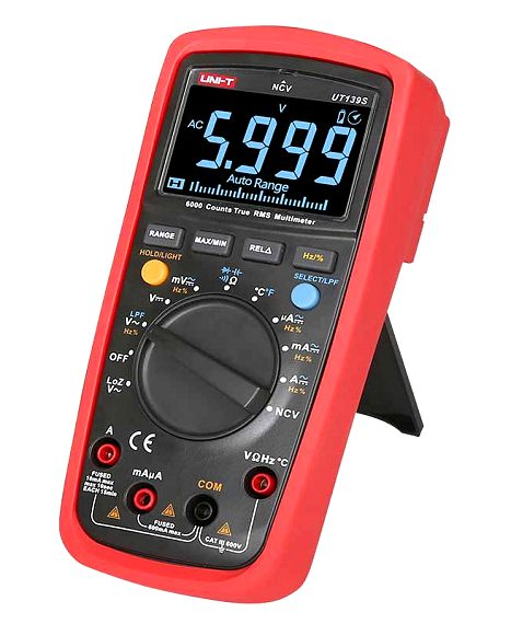 UNI-T UT139S 6000 Digits EBTN-Display TRMS Auto Range Digital Multimeter mit NCV, LoZ und LPF
