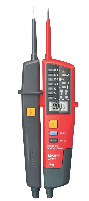 Uni-T UT18C Voltage Stick Spannungstester, Phasen Rotationsrichtungstester, mit LED Spannungsbereichsanzeige und Display