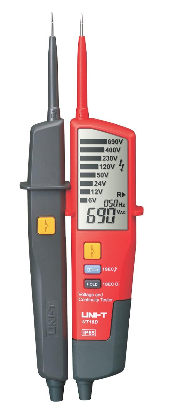 Uni-T UT18D Voltage Stick Spannungstester, Phasen Rotationsrichtungstester, mit LED Spannungsbereichsanzeige und Display