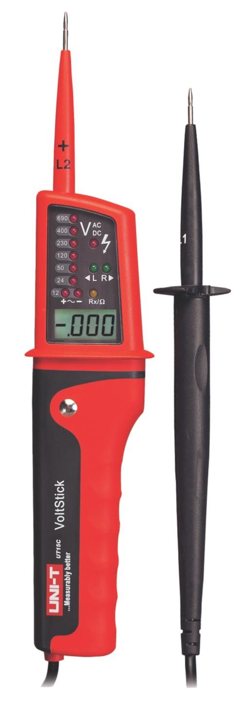 Uni-T UT15C Voltage Stick Spannungstester, Phasen Rotationsrichtungstester, mit LED Spannungsbereichsanzeige und Display