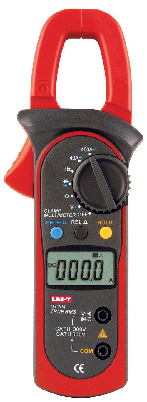 Uni-T UT204 DC AC TRMS Stromzangen Multimeter für 0-40.00A oder 0-400.0A , 4000 Counts