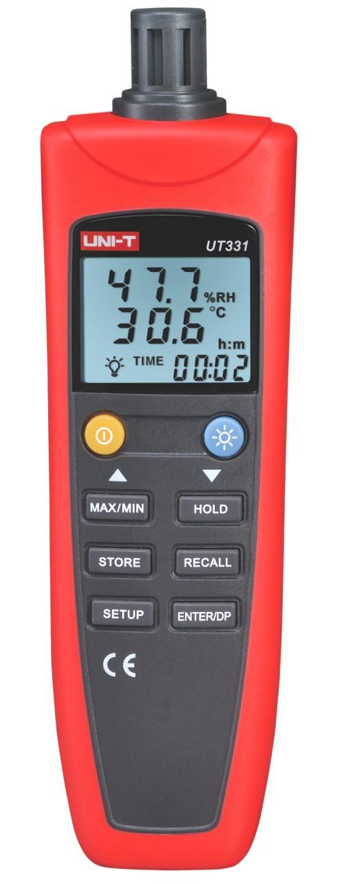 Uni-T UT331 Temperatur Tauchpunkt Luftfeuchtemessgerät mit USB IO Datum Uhrzeit Min MAX Average Offset, großes Foto
