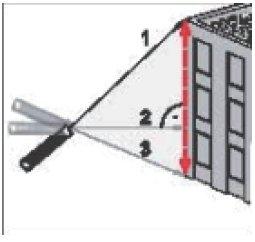 Uni-T UT391A indirekte Höhenmessung über 3 Strecken und zwei Winkel