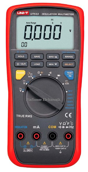 UNI-T UT533 Isolationswiderstandsmessung+Multimeter