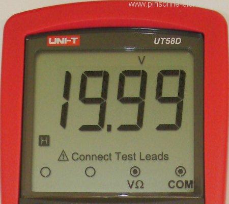 Uni-T UT58D mit großem gutem Display - Displayfotoausschnitt