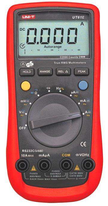 Uni-T UT61E 10kHz TRMS Multimeter mit CE und GS USB