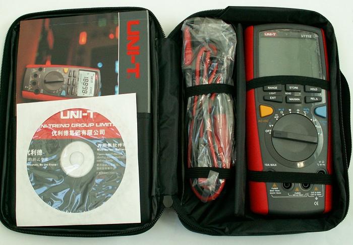 Uni-T UT71E in Tasche mit Handbuch CD allen Kabeln
