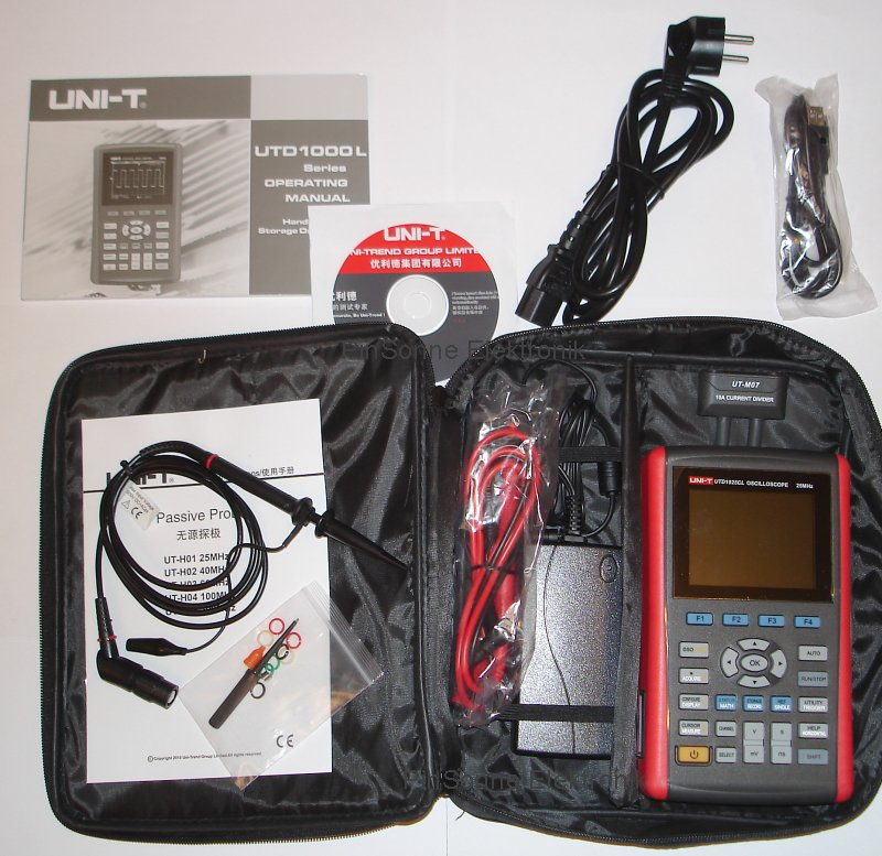 Uni-T UTD1025CL with bag probe book cd and power supply