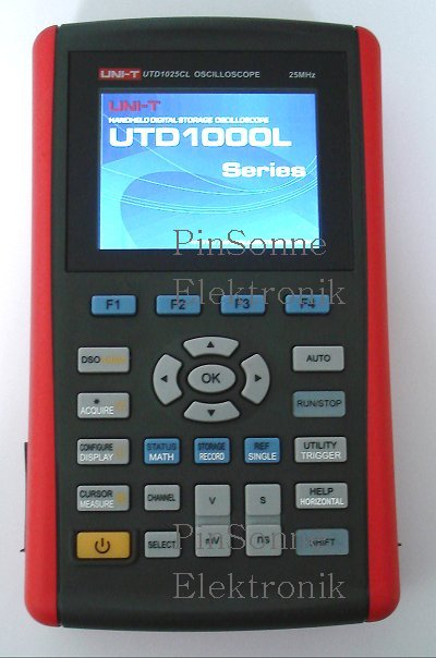 Uni-T UTD1025CL 1CH scopemeter booting starting up