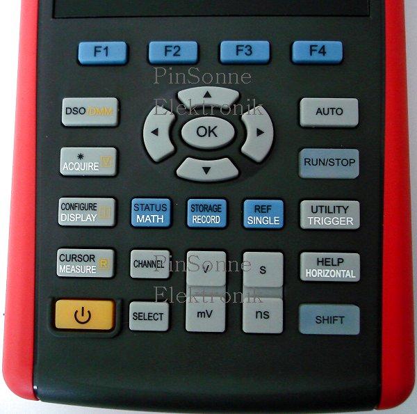 Uni-T UTD1025CL 1CH Scopemeter das Bedientastenfeld