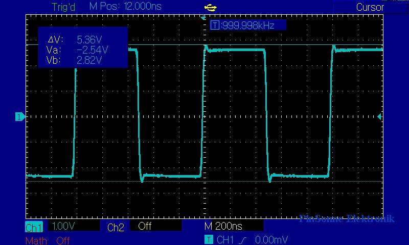 Uni-T UTD2102CEX, UTD2052CEX Cursor Spannungsmessung
